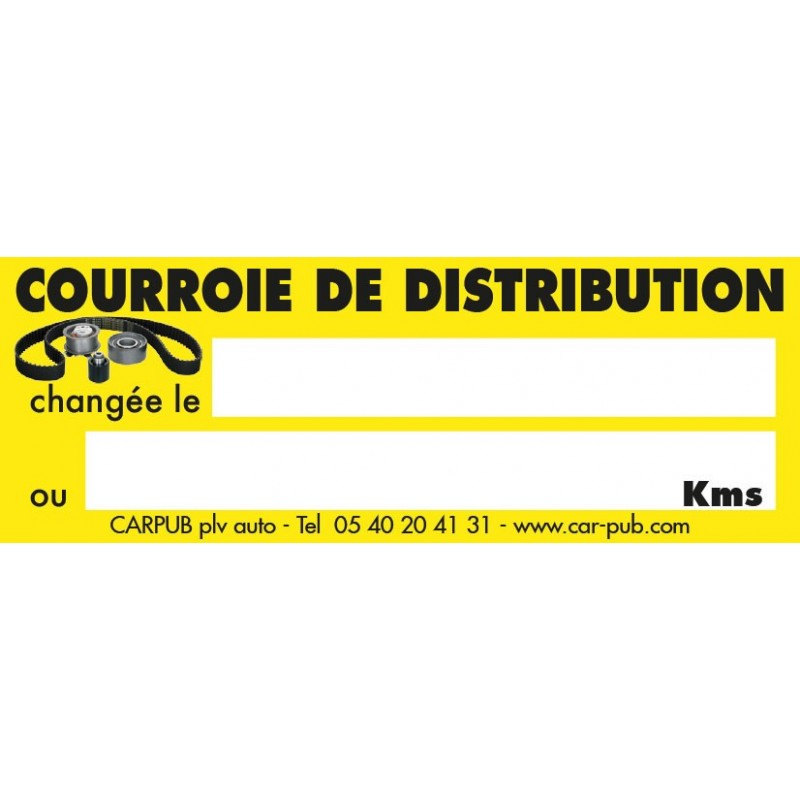 Étiquette de courroie de distribution (lot de 250 unités)